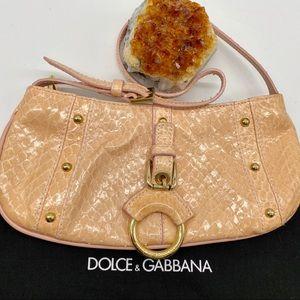 Lovely Dolce & Gabbana Small Peach Eel Bag⭐️